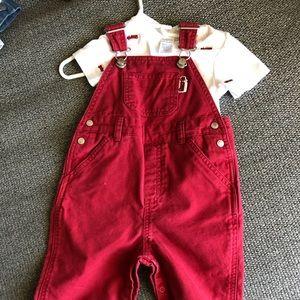 Firetruck overalls & Onesie
